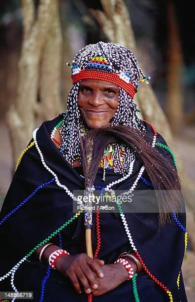 Zulu witch doctor/ herbalist.