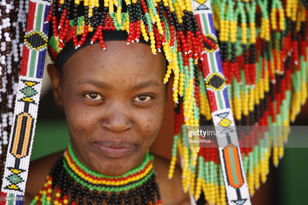 Zulu woman and her souvenirs