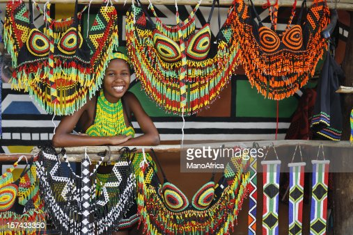 Zulu woman with souvenirs