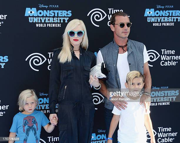 Zuma Nesta Rock Rossdale Gwen Stefani Gavin Rossdale and Kingston James McGregor Rossdale attend the premiere of Disney Pixar's 'Monsters University'...
