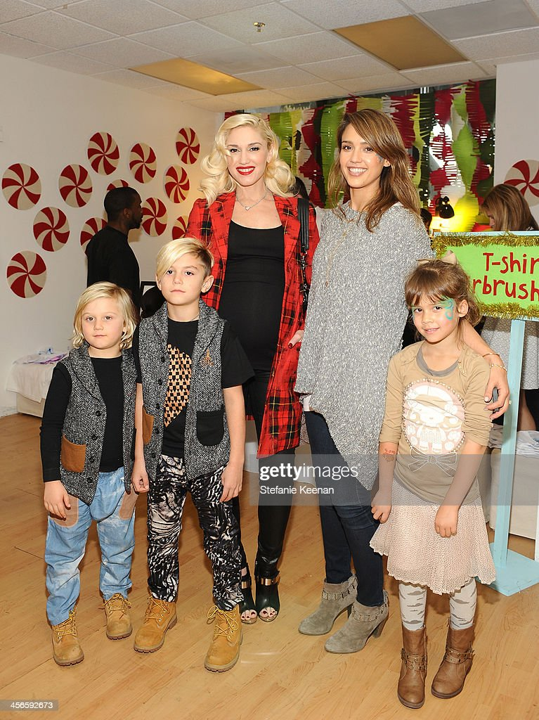 Zuma Nesta Rossdale, <a gi-track='captionPersonalityLinkClicked' href=/galleries/search?phrase=Kingston+Rossdale&family=editorial&specificpeople=4484338 ng-click='$event.stopPropagation()'>Kingston Rossdale</a>, <a gi-track='captionPersonalityLinkClicked' href=/galleries/search?phrase=Gwen+Stefani&family=editorial&specificpeople=156423 ng-click='$event.stopPropagation()'>Gwen Stefani</a>, <a gi-track='captionPersonalityLinkClicked' href=/galleries/search?phrase=Jessica+Alba&family=editorial&specificpeople=201811 ng-click='$event.stopPropagation()'>Jessica Alba</a> and Honor Marie Warren attend the Third Annual Baby2Baby Holiday Party presented by The Honest Company on December 14, 2013 in Los Angeles, California.