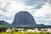 Zuma Rock is a large monolith near Abuja.