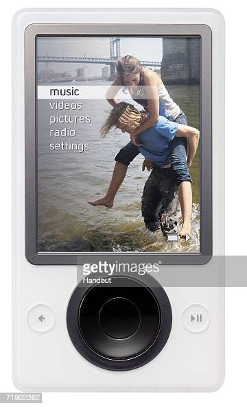 Zune portable digital media player is seen in this undated handout photo Microsoft launched Zune September 14 2006 as its answer to Apple's popular...