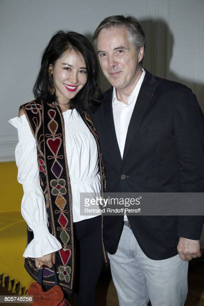 Zuo An Xiao and Olivier Lapidus attend The Launch of Olivier Lapidus eCouture on July 1 2017 in Paris France