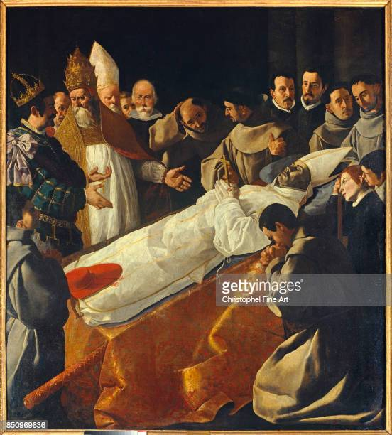 Zurbaran Francisco De Saint Bonaventure's Body Lying in State Paris Louvre Museum