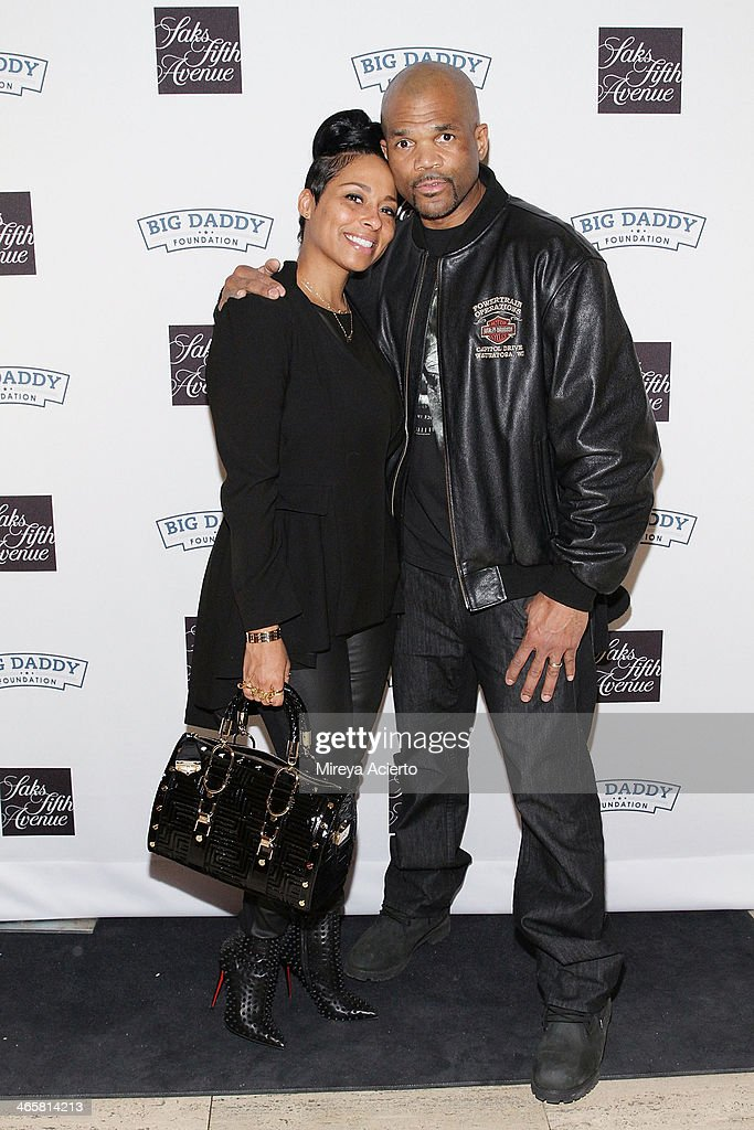 Zuri McDaniels and Darryl McDaniels attend 2014 Fashion Meets Football at Saks Fifth Avenue on January 29 2014 in New York City