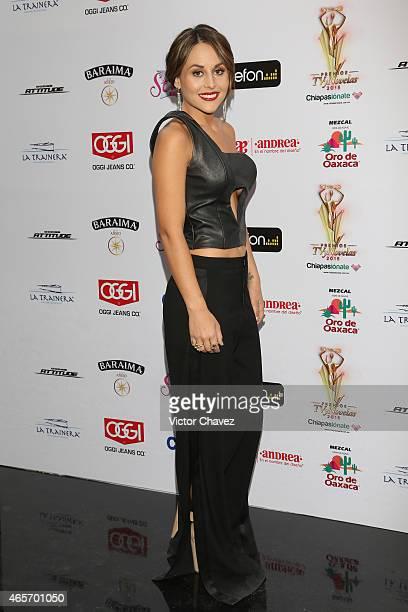 Zuria Vega arrives at Premios TV y Novelas 2015 at Televisa San Angel on March 9 2015 in Mexico City Mexico