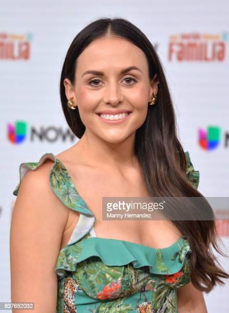 Zuria Vega at the Press Conference for new soap opera Mi Marido Tiene Familia at Univision Studios on August 21 2017 in Doral FL
