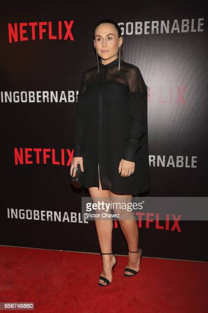 Zuria Vega attends the launch of Netflix's series 'Ingobernable' red carpet at Auditorio BlackBerry on March 22 2017 in Mexico City Mexico