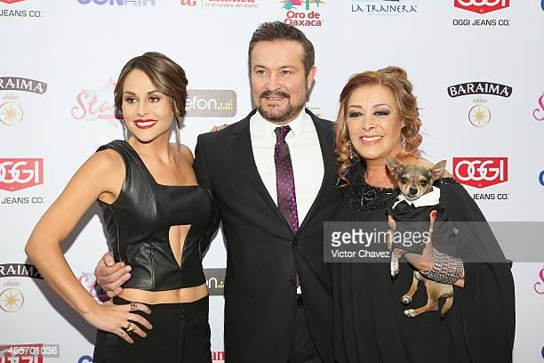 Zuria Vega Aturo Peniche and Sylvia Pasquel arrive at Premios TV y Novelas 2015 at Televisa San Angel on March 9 2015 in Mexico City Mexico