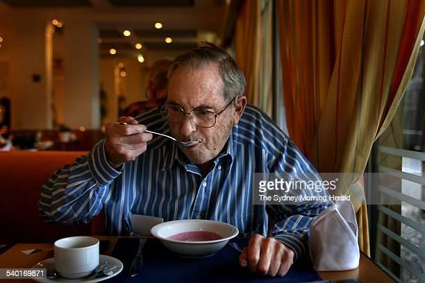 00am Terminally ill Sydney man John Elliott struggles to eat his yoghurt as he finds it almost impossible to swallow in his Zurich hotel before...