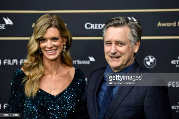 Zurich Film Festival director Nadja Schildknecht and Bill Pullman attend the Award Night of the the 13th Zurich Film Festival on October 7 2017 in...
