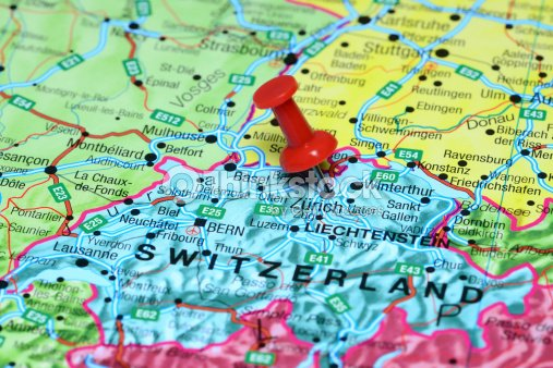 Zurich pinned on a map of europe stock photo thinkstock zurich pinned on a map of europe stock photo publicscrutiny Gallery