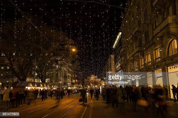 Zurich 's famous Bahnhofstrasse