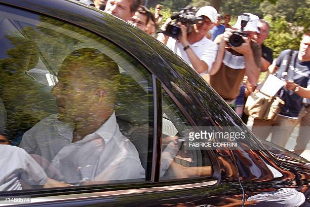 Retired French football captain Zinedine Zidane arrives 20 July 2006 at FIFA headquarters in Zurich to appear before a disciplinary comission over...