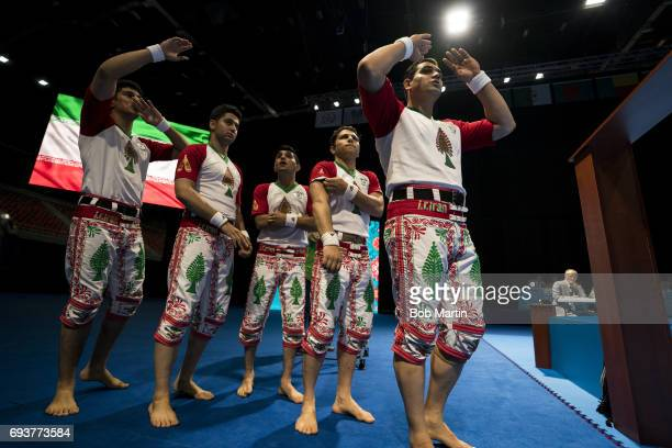 4th Islamic Solidarity Games Team Iran before Men's Team Skills Group competition at Baku Crystal Hall 2 Baku Azerbaijan 5/20/2017 CREDIT Bob Martin