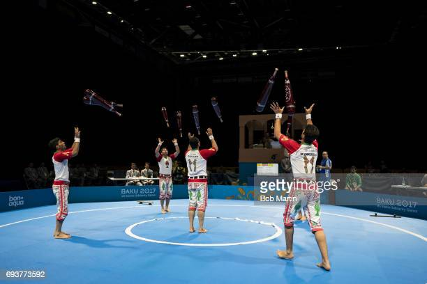 4th Islamic Solidarity Games Team Iran in action during Men's Team Skills Group competition at Baku Crystal Hall 2 Baku Azerbaijan 5/20/2017 CREDIT...