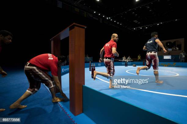 4th Islamic Solidarity Games Team Iraq before Men's Team Skills Group competition at Baku Crystal Hall 2 Baku Azerbaijan 5/20/2017 CREDIT Bob Martin