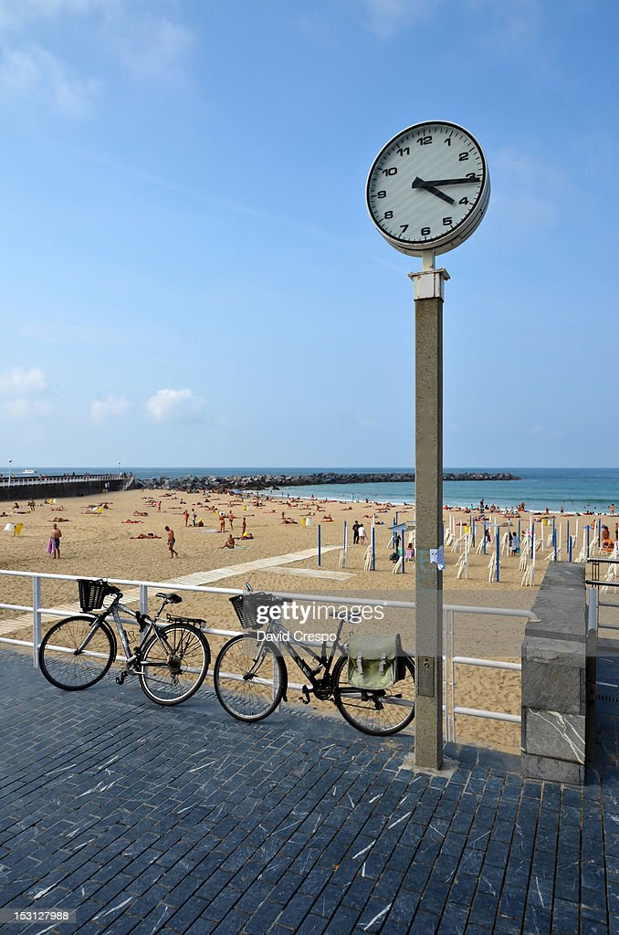 Zurriola beach : Stock Photo