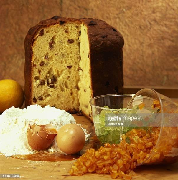 Zutaten für Panettone italienischen Weihnachtskuchen