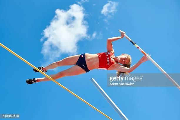 Zuzana Prazakova from Czech Republic competes in women's pole vault qualification during Day 1 of European Athletics U23 Championships 2017 at...