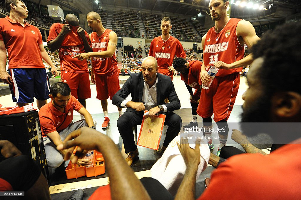 Zvezdon MITROVIC coach of Monaco during the basketball Pro A semi-final between Lyon Villeurbanne and Monaco on May 27, 2016 in Villeurbanne, France.