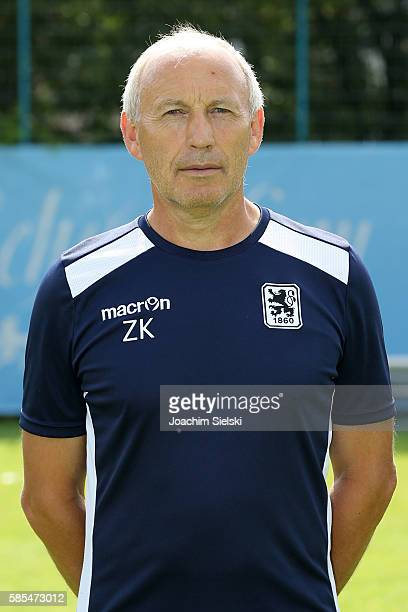 Zvonko Komes poses during the official team presentation of TSV 1860 Muenchen at Trainingsgelaende on July 22 2016 in Munich Germany