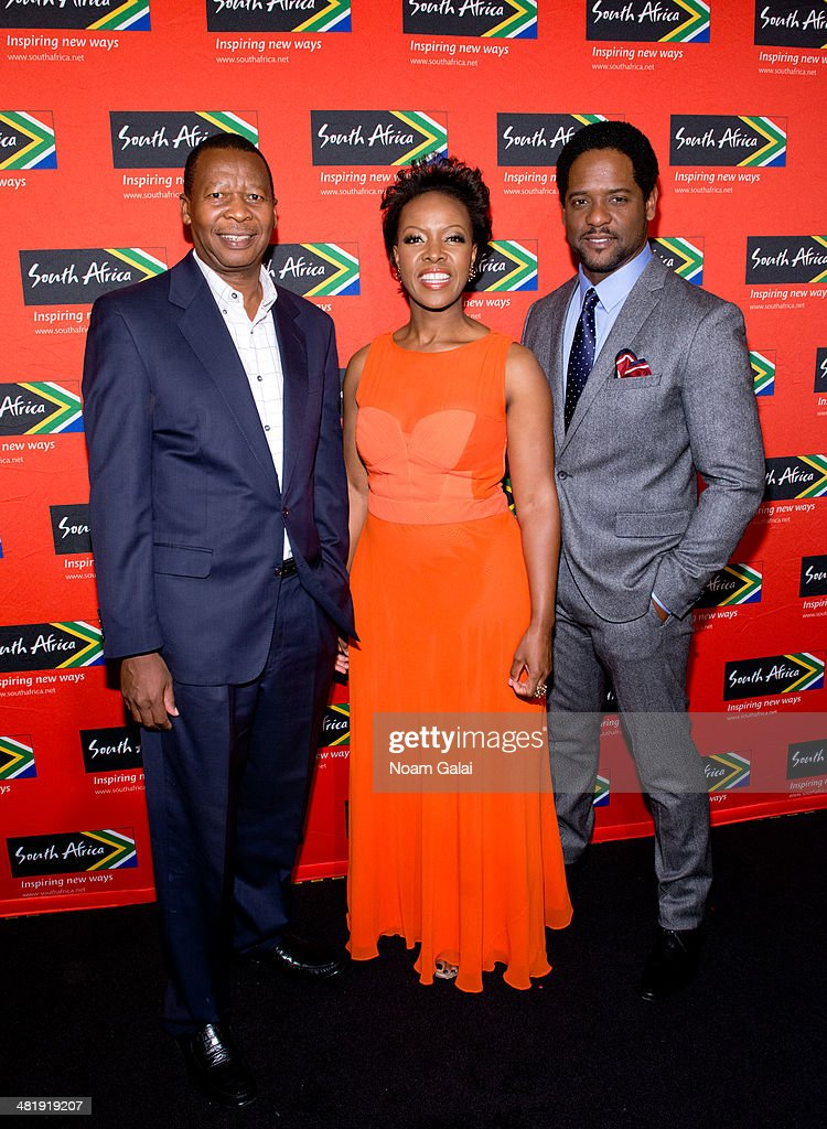 Zwelibanzi Mntambo, Sthu Zungu and <a gi-track='captionPersonalityLinkClicked' href=/galleries/search?phrase=Blair+Underwood&family=editorial&specificpeople=215367 ng-click='$event.stopPropagation()'>Blair Underwood</a> attend the 2014 Ubuntu Awards at Gotham Hall on April 1, 2014 in New York City.