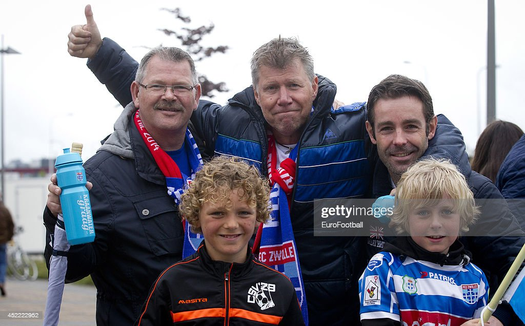 Zwolle Supporters before the Eredivisie Dutch League match between PEC Zwolle and PSV Eindhoven at the IJsseldelta Stadion on April 272014 in...