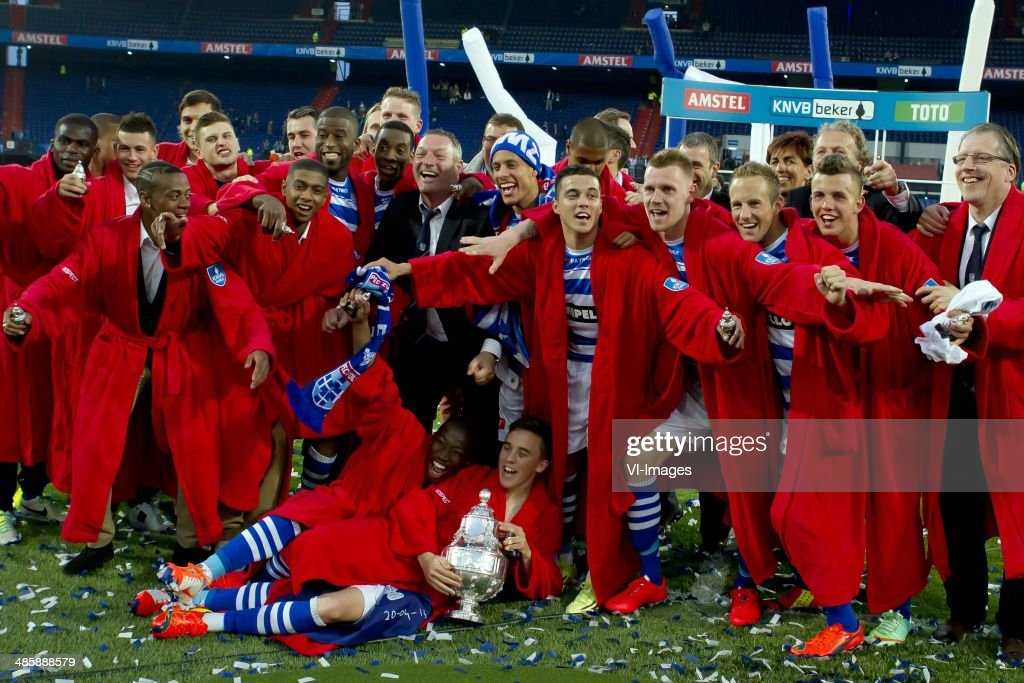 PEC Zwolle wint KNVB Beker during the Dutch Cup final match between Pec Zwolle and Ajax Amsterdam on April 20 2014 at the Kuip stadium in Rotterdam...