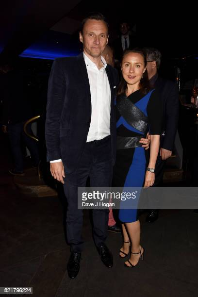 Zygi Kamasa and Eugenie Kamasa attend the after party for the European premiere of 'Valerian and The City of a Thousand Planets' at 100 Wardour...