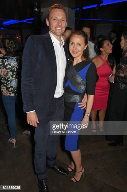 Zygi Kamasa and Eugenie Kamasa attend the after party for the European Premiere of 'Valerian And The City Of A Thousand Planets' at 100 Wardour St on...