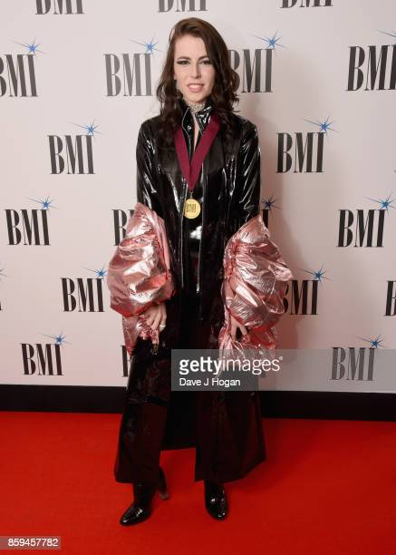 Zyra aka Alexandra Cheatle attends the BMI London Awards at The Dorchester on October 9 2017 in London England