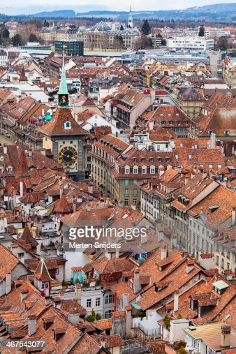 Zytglogge around oldtown rooftops