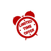 Limited time offer icon sign. vector eps10