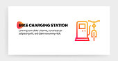BIKE CHARGING STATION ICON CONCEPT