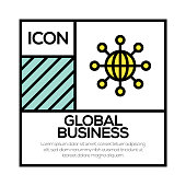 GLOBAL BUSINESS ICON CONCEPT