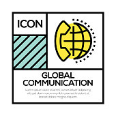 GLOBAL COMMUNICATION ICON CONCEPT