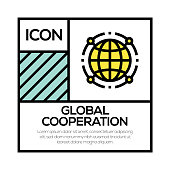 GLOBAL COOPERATION ICON CONCEPT