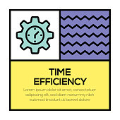 TIME EFFICIENCY ICON CONCEPT