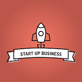 START UP BUSINESS LINE ICON SET