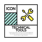 TECHNICAL TOOLS ICON CONCEPT