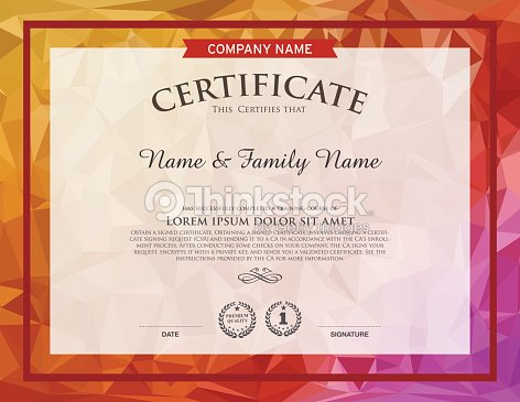 Certificate template vector art thinkstock certificate template vector art yelopaper Choice Image