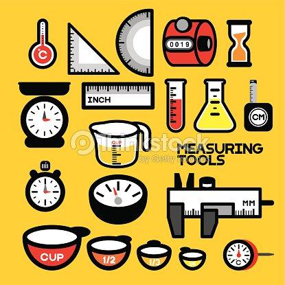 Measuring tools vector art thinkstock - Instrumentos de cocina ...