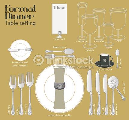 Formal Dinner Table Setting Vector Art | Thinkstock