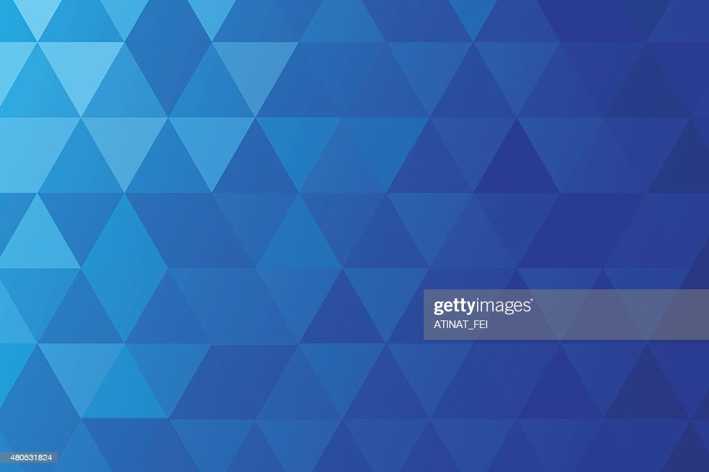 BLUE POLY ABSTRACT BACKGROUND : Vector Art