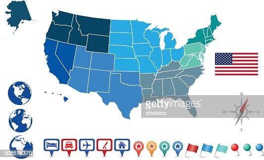 USA MAP KIT : Vector Art