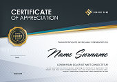 certificate template with Luxury and modern pattern,