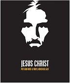 JESUS CHRIST vector stylized portrait