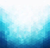 Abstract blue light template background. Triangles mosaic